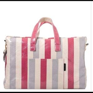 Graphique Stripes Laminated Overnight Bag